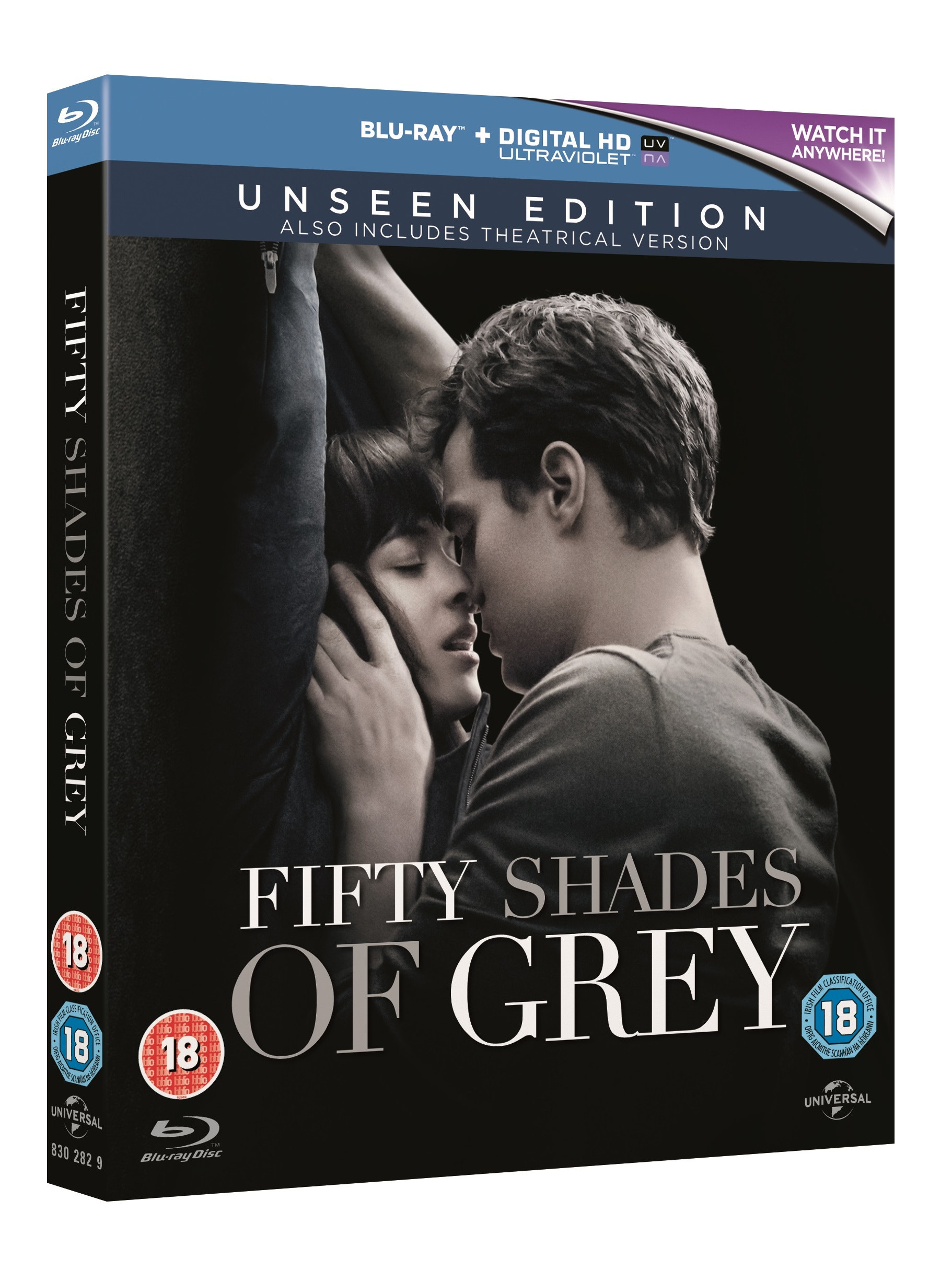 Fifty shades of grey 3d blu ray packshot