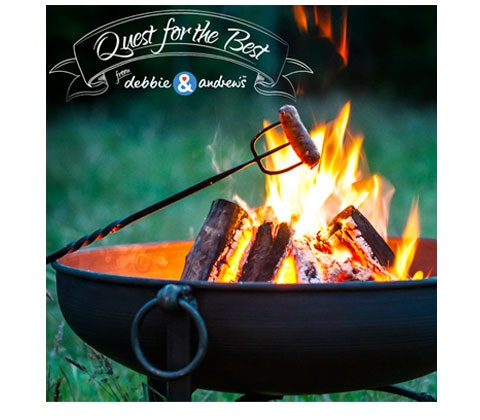 Win a Fire pit, recipe book & debbie&andrew's sausages voucher sweepstakes