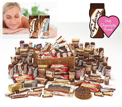 Win £200 spa voucher, Galaxy Hot Chocolate & charity hamper sweepstakes