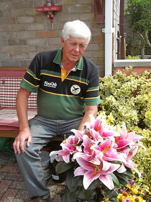Terry walton with his winning lily romance display