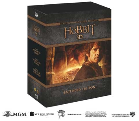THE HOBBIT TRILOGY EXTENDED EDITION BOX SET on Blu-ray 3D!! sweepstakes