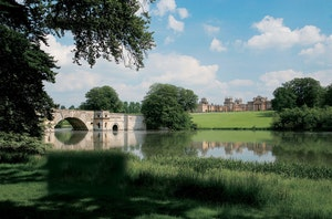 The lake and grand bridge at blenheim palace