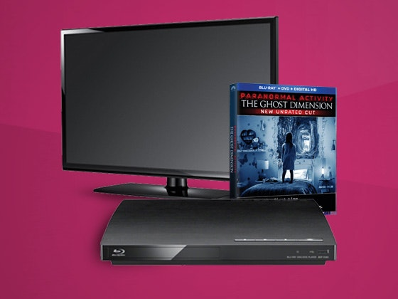 Paranormal Activity: The Ghost Dimenson Plus Flat Screen TV and Bluray Player sweepstakes