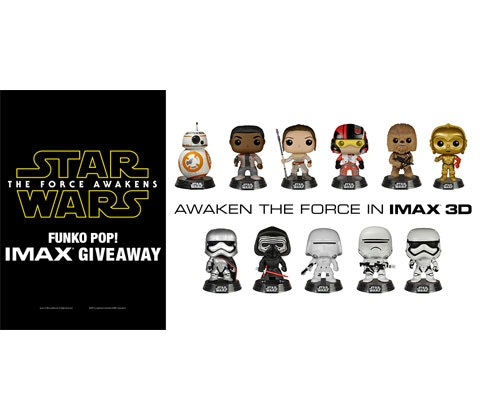 Star Wars: The Force Awakens Pop! Bobble-Heads sweepstakes