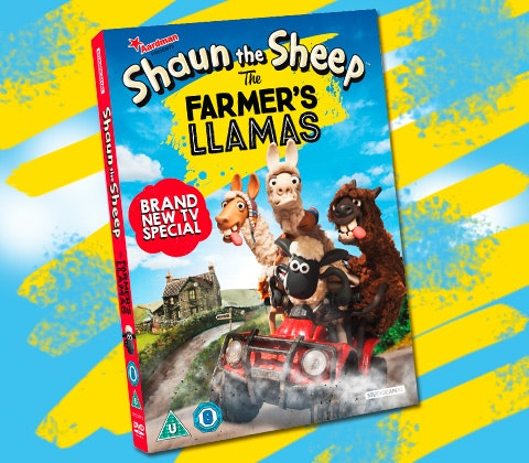 Shaun The Sheep The Farmers Llamas DVDs and books sweepstakes