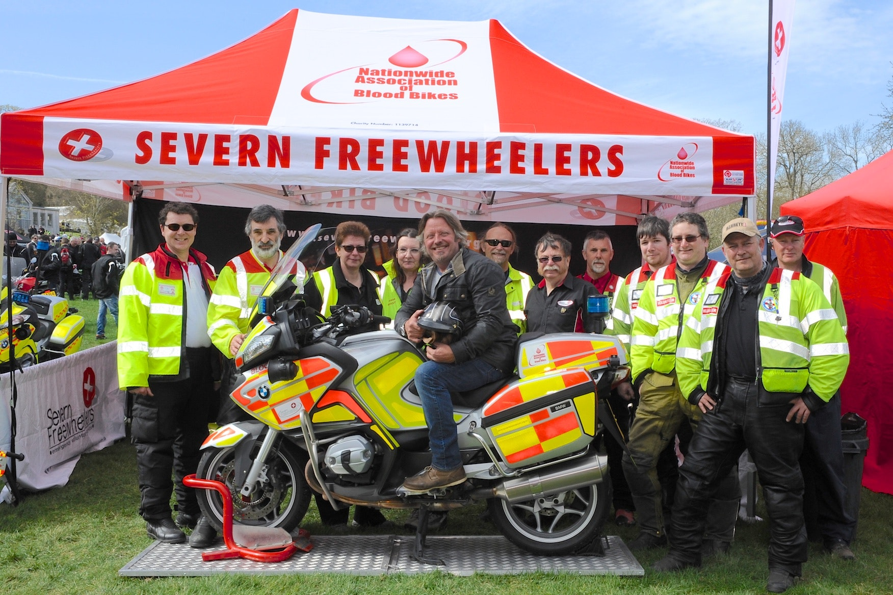 Charley boorman with blood bikers   credit geoff robinson