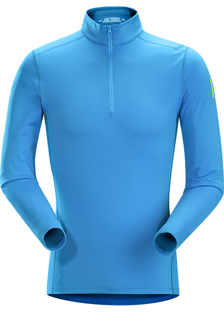 Phase ar zip neck ls adriatic blue