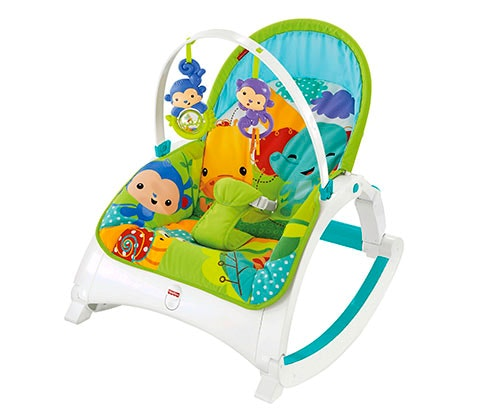 Win rainforest newborn to toddler rocker