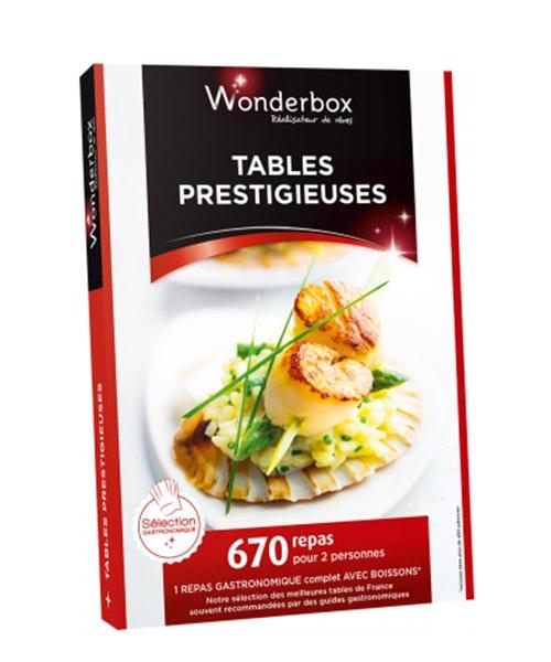 Wonderbox tables prestigieuses