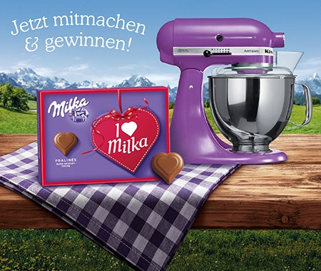 Milka pralinen muttertag kitchen aid 450x380