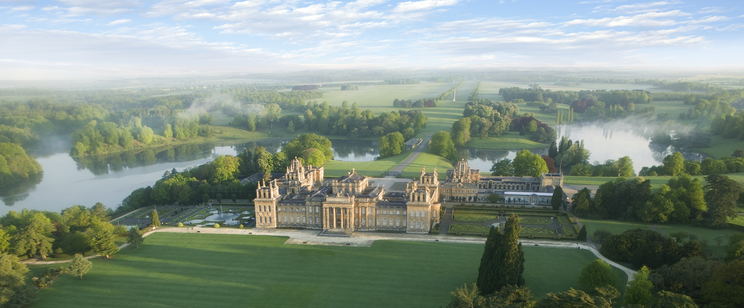 Press blenheim palace park and gardens south lawn aerial  2