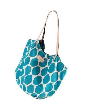 Carre  blanc sac plage turquoise 0277