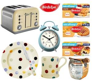 Birds eye toaster breakfast range competition