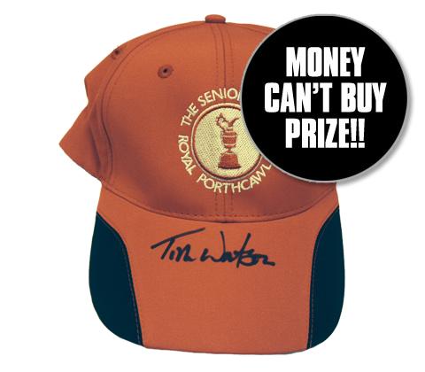 Tom watson signed hat