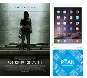 To celebrate release of morgan  win an ipad and lifetime subscription to brain training app peak