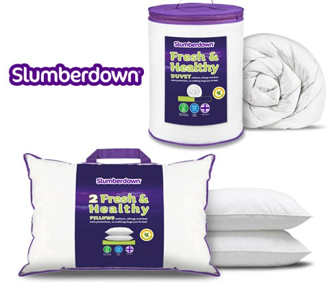 Slumberdown pillows duvets bedding competition