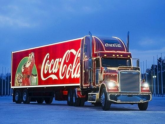 Coca cola weihnachtstruck 560x420px