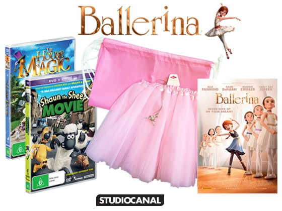 Ballerina Merchandise Pack including Movie Tickets sweepstakes