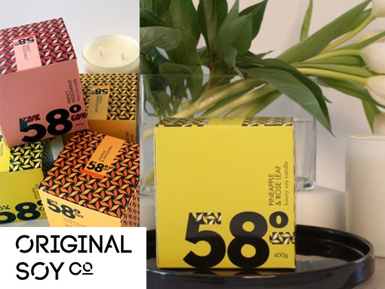 Large Original Soy Candle 58 Degrees sweepstakes