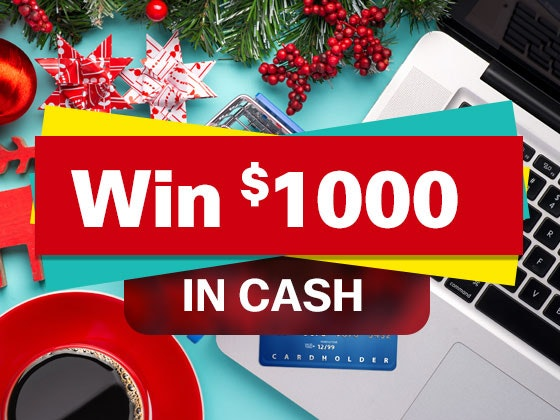 Dec  1kcash giveaway