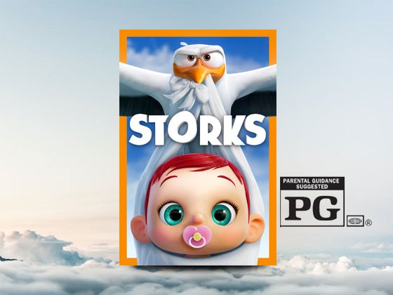 Storks with HDTV and Blu-ray Player sweepstakes