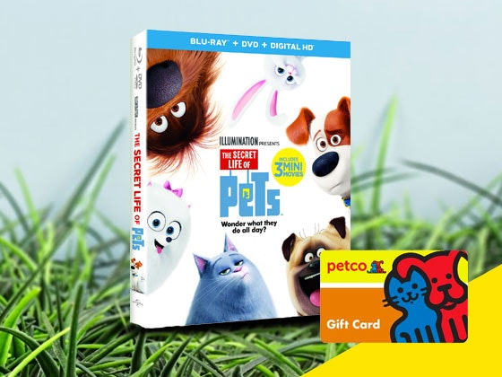 The Secret Life of Pets and Petco Gift Card Giveaway sweepstakes