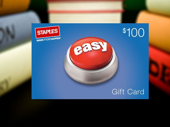 Staples giftcard giveaway