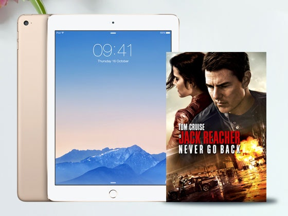 Jack Reacher Never Go Back on Digital HD and an iPad mini 2 sweepstakes