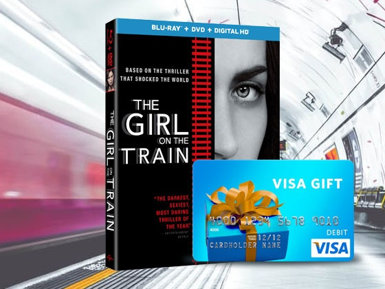 The Girl On The Train and Visa Gift Card sweepstakes