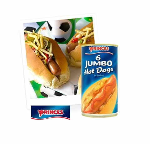 Princes hot dog copy