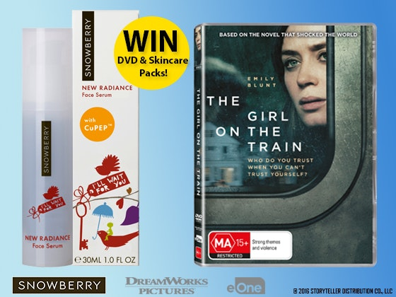 Girl on the Train DVD & Snowberry Skincare Prize Packs sweepstakes