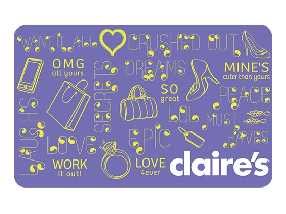 Claire's Gift Card sweepstakes