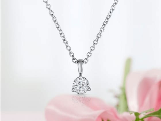 AIDIA 14K White Gold Diamond Pendant Necklace sweepstakes