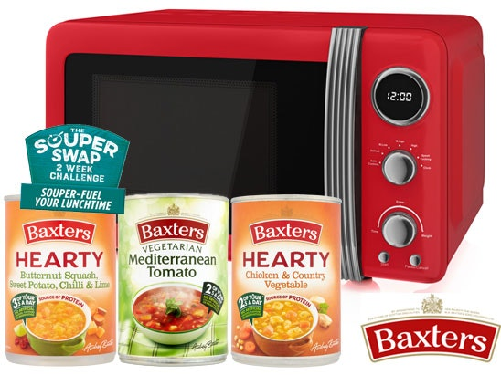 a Baxters soup and microwave set sweepstakes