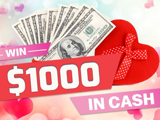 $1000 Cash February 2017 sweepstakes