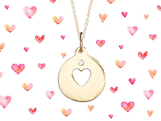 Helen Ficalora Heart Necklace Giveaway sweepstakes