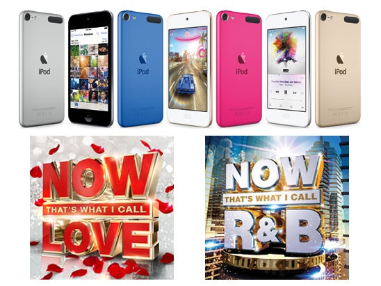 a 16GB Apple iPod touch & NOW CDs sweepstakes