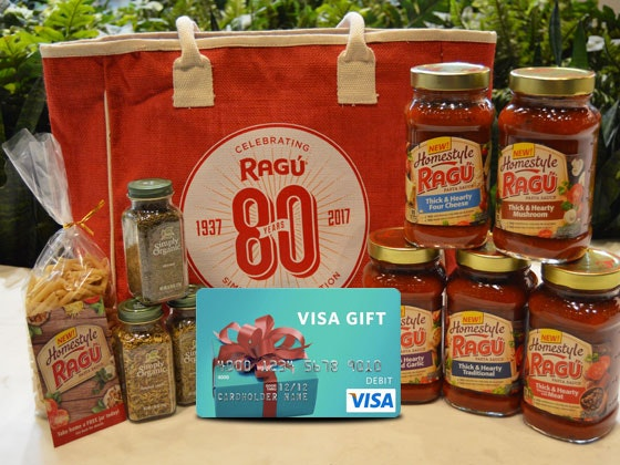 RAGU Sauce and Visa Gift Card sweepstakes