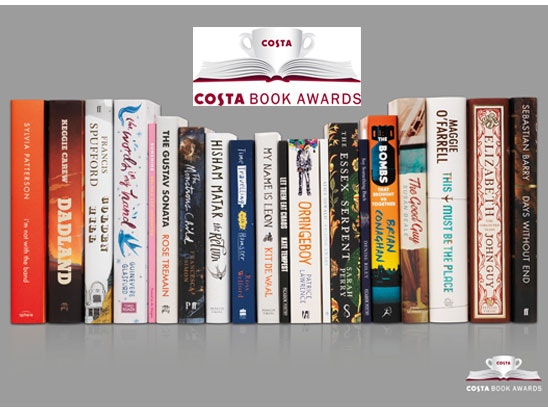 The Costa Book Awards shortlist & £200 Costa gift card sweepstakes