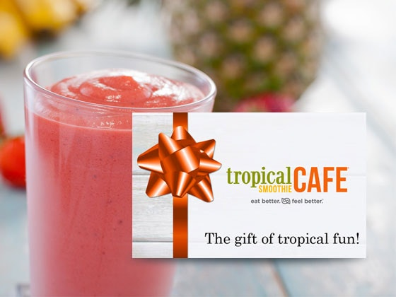 Tropical Smoothie Gift Card sweepstakes