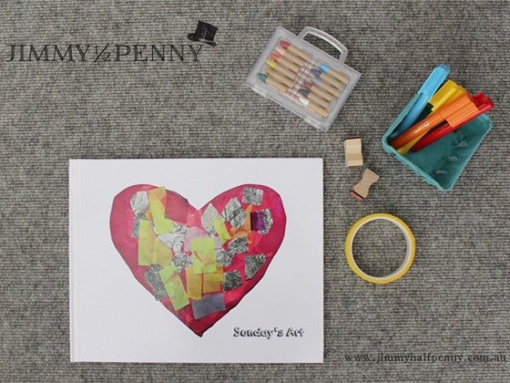 Regular Jimmy Halfpenny Kids Art Book (Up to 30 pieces of Art) sweepstakes