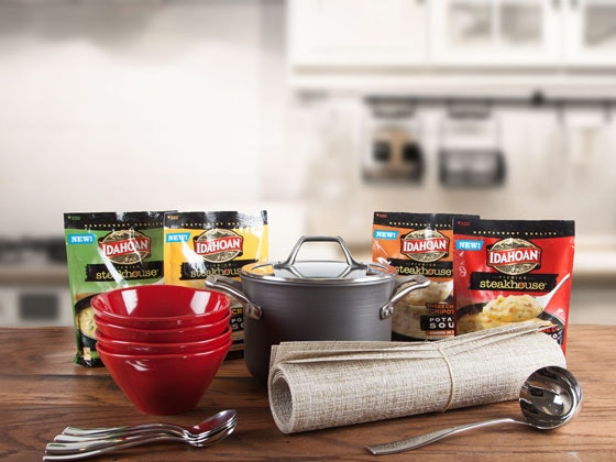 Idahoan® Premium Steakhouse® Potato Soups sweepstakes