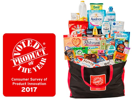 Product of the year goody bag sweepstakes