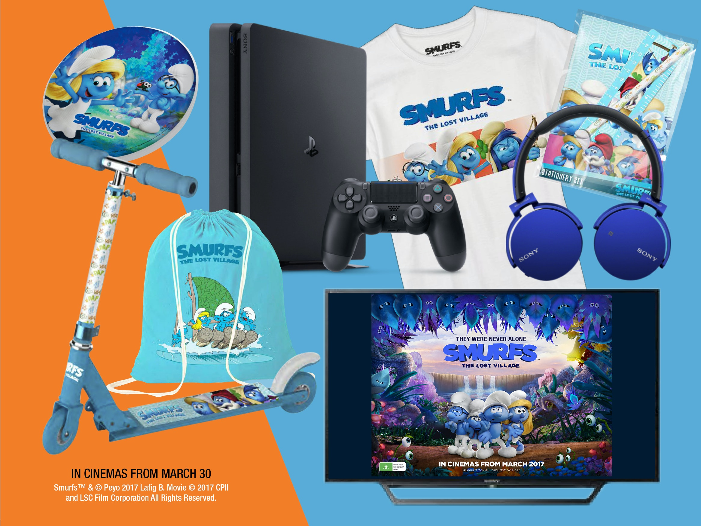 Smurfs TV & Game Pack sweepstakes