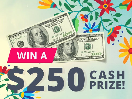 $250 Cash Prize March 2017 sweepstakes