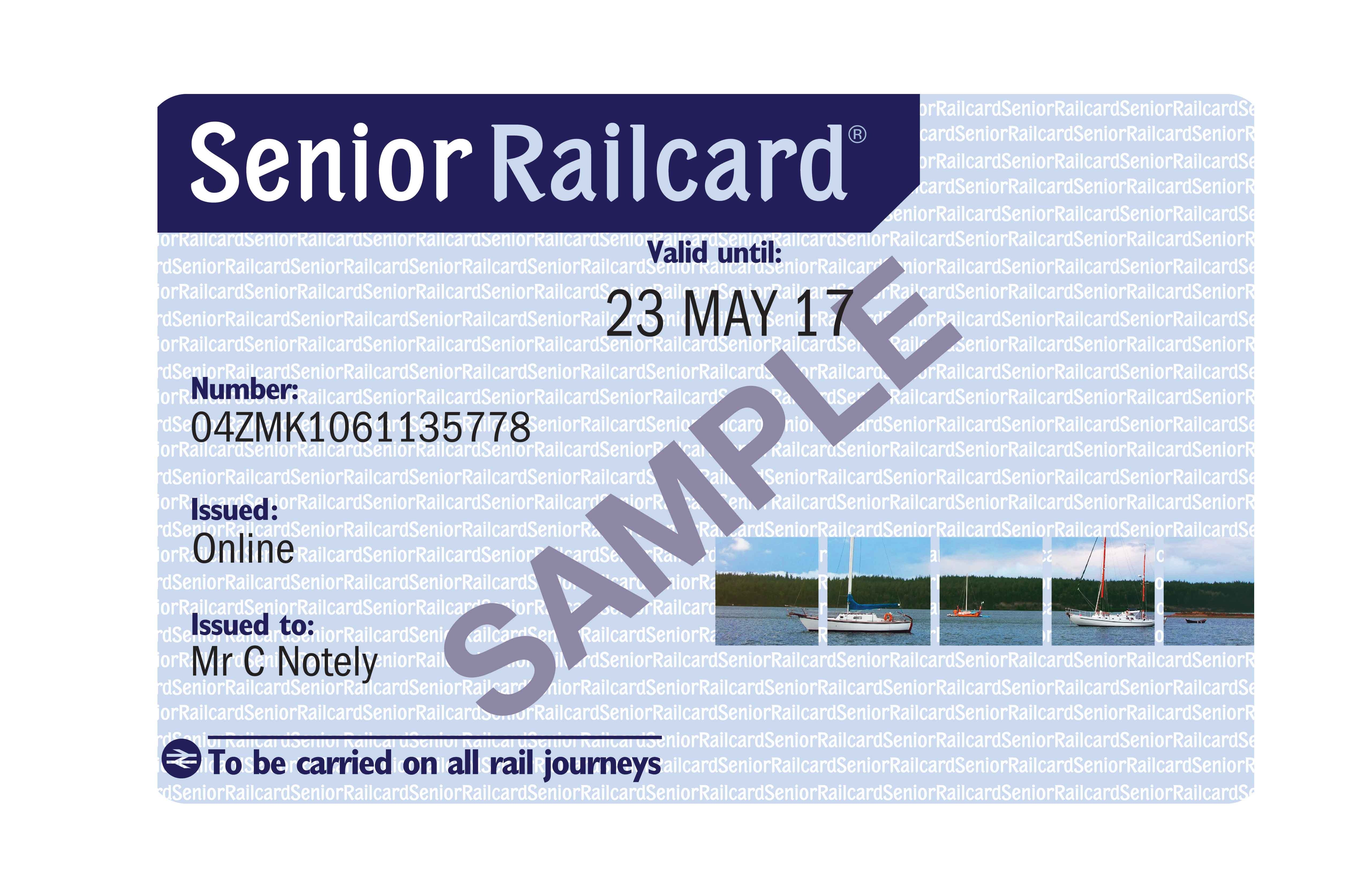 Senior Railcard sweepstakes