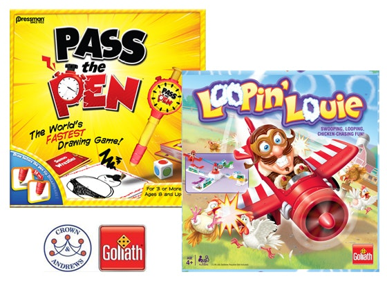 Crowns & Andrew Pass the Pen and Loopin' Louie! Games Pack  sweepstakes