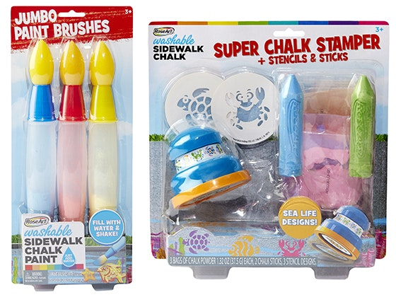 Super Chalk Stampers & Jumbo Paint Brushes from RoseArt sweepstakes