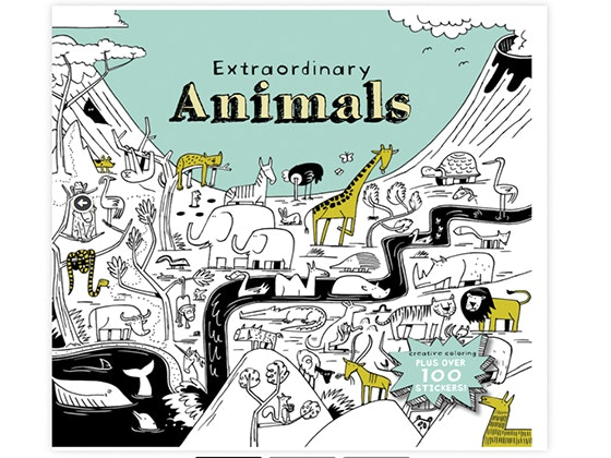 Extraordinary Animals Coloring Book sweepstakes