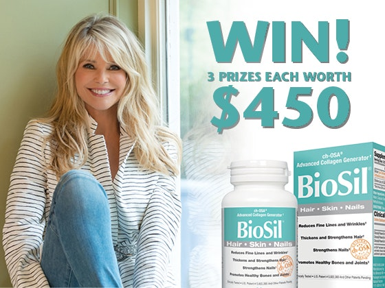 BioSil and Christie Brinkley -- BioSil 1/4 sweepstakes